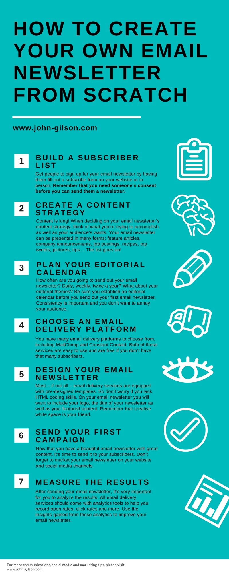 How to Email Newsletter Infographic