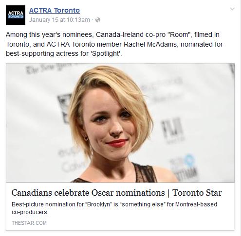 ACTRA Toronto FB 1-15-16
