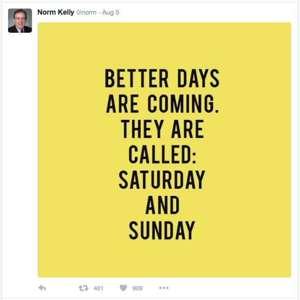 Norm Kelly tweet